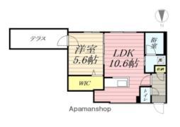 LUXE麻生(リュクス) 1階1LDKの間取り