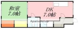 ライブタウン富岡I 3階1DKの間取り