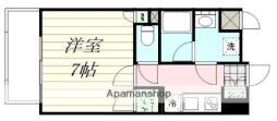 エルスタンザ広瀬通RESIDENCE 6階1Kの間取り