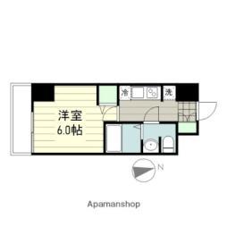 smart residence 仙台駅東 6階1Kの間取り