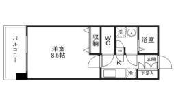 仙台市地下鉄東西線 国際センター駅 徒歩5分の賃貸マンション 1階1Kの間取り