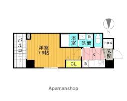 東京メトロ南北線 志茂駅 徒歩3分の賃貸マンション 3階1Kの間取り