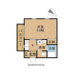JR埼京線 十条駅 徒歩20分の賃貸アパート 1階1Kの間取り