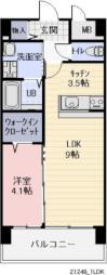 JR信越本線 長野駅 徒歩10分の賃貸マンション 2階1LDKの間取り
