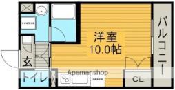 名古屋市営東山線 本郷駅 徒歩11分の賃貸マンション 9階ワンルームの間取り