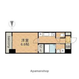 JR中央本線 金山駅 徒歩7分の賃貸マンション 7階1Kの間取り
