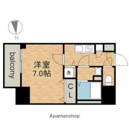 JR中央本線 鶴舞駅 徒歩5分の賃貸マンション 14階1Kの間取り