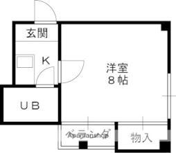 京阪本線 滝井駅 徒歩1分の賃貸マンション 5階1Kの間取り
