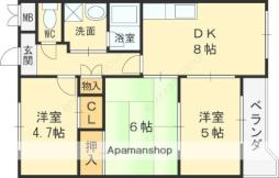 Osaka Metro谷町線 守口駅 徒歩6分の賃貸マンション 3階3LDKの間取り