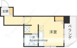 京阪本線 土居駅 徒歩6分の賃貸マンション 4階ワンルームの間取り