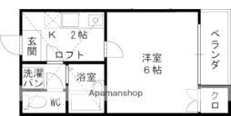 京阪本線 森小路駅 徒歩3分の賃貸マンション 3階1Kの間取り