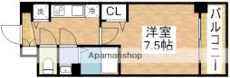 ディームス江坂 11階1Kの間取り