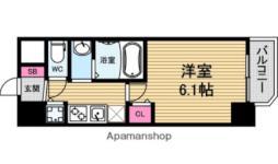 LiveCasa本町 5階1Kの間取り