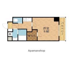 レジデンス大阪城東アペリオ 6階1Kの間取り