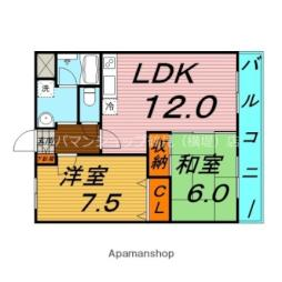 Osaka Metro長堀鶴見緑地線 横堤駅 徒歩10分の賃貸マンション 3階2LDKの間取り