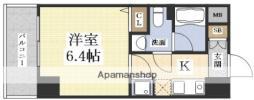 ハピネス江坂 3階1Kの間取り