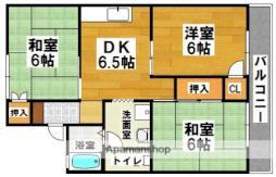 セジュールオギタI・II 2階3DKの間取り