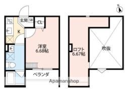Grande Mare 堺東 1階1Kの間取り