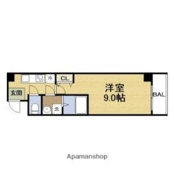 TOYOTOMI STAY Premium大阪城京橋 5階1Kの間取り