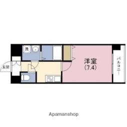JR東西線 海老江駅 徒歩4分の賃貸マンション 9階1Kの間取り