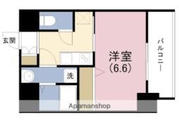 JR東西線 海老江駅 徒歩9分の賃貸マンション 6階1Kの間取り