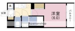 JR東西線 新福島駅 徒歩7分の賃貸マンション 9階1Kの間取り