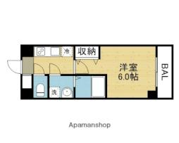 近鉄難波線 今里駅 徒歩7分の賃貸マンション 8階1Kの間取り