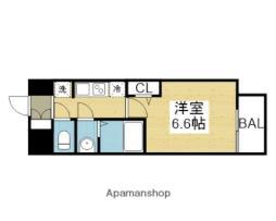 アドバンス大阪ブリアント 14階1Kの間取り