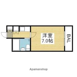 JR関西本線 加美駅 徒歩11分の賃貸マンション 4階1Kの間取り