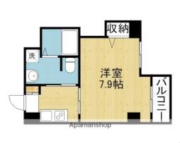 Osaka Metro千日前線 今里駅 徒歩6分の賃貸マンション 6階1Kの間取り