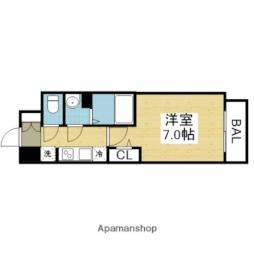 Osaka Metro中央線 森ノ宮駅 徒歩10分の賃貸マンション 3階1Kの間取り