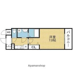 Osaka Metro千日前線 今里駅 徒歩7分の賃貸マンション 14階1Kの間取り
