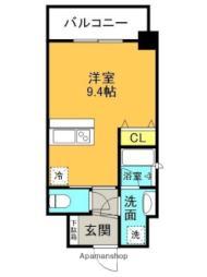 JR東海道・山陽本線 甲子園口駅 徒歩3分の賃貸マンション 4階ワンルームの間取り