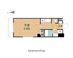 JR山陽本線 岡山駅 徒歩12分の賃貸マンション 6階1Kの間取り