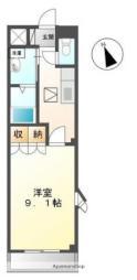高松琴平電気鉄道琴平線 太田駅 徒歩27分の賃貸アパート 1階1Kの間取り