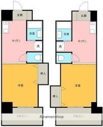 Uマンション 3階1DKの間取り