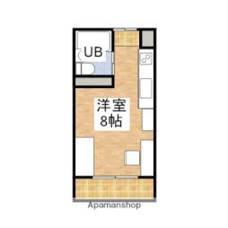 JR予讃線 伊予北条駅 徒歩8分の賃貸アパート 2階ワンルームの間取り
