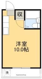 バス 岡豊山バス停下車 徒歩3分の賃貸マンション 1階ワンルームの間取り