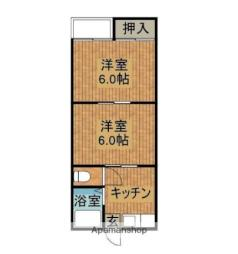 JR日南線 南郷駅 徒歩15分の賃貸アパート 1階2Kの間取り