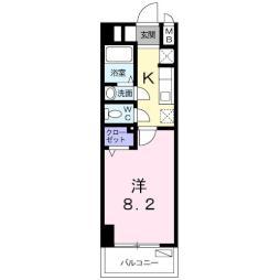 M&K.ホープマンション 6階1Kの間取り