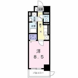 K.I.A.L 東合川ヴィラ 1階1Kの間取り