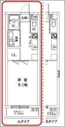 アイボリックハウス 3階1Kの間取り
